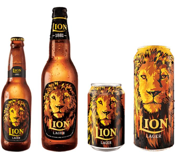 Lion Lager (available in different sizes)