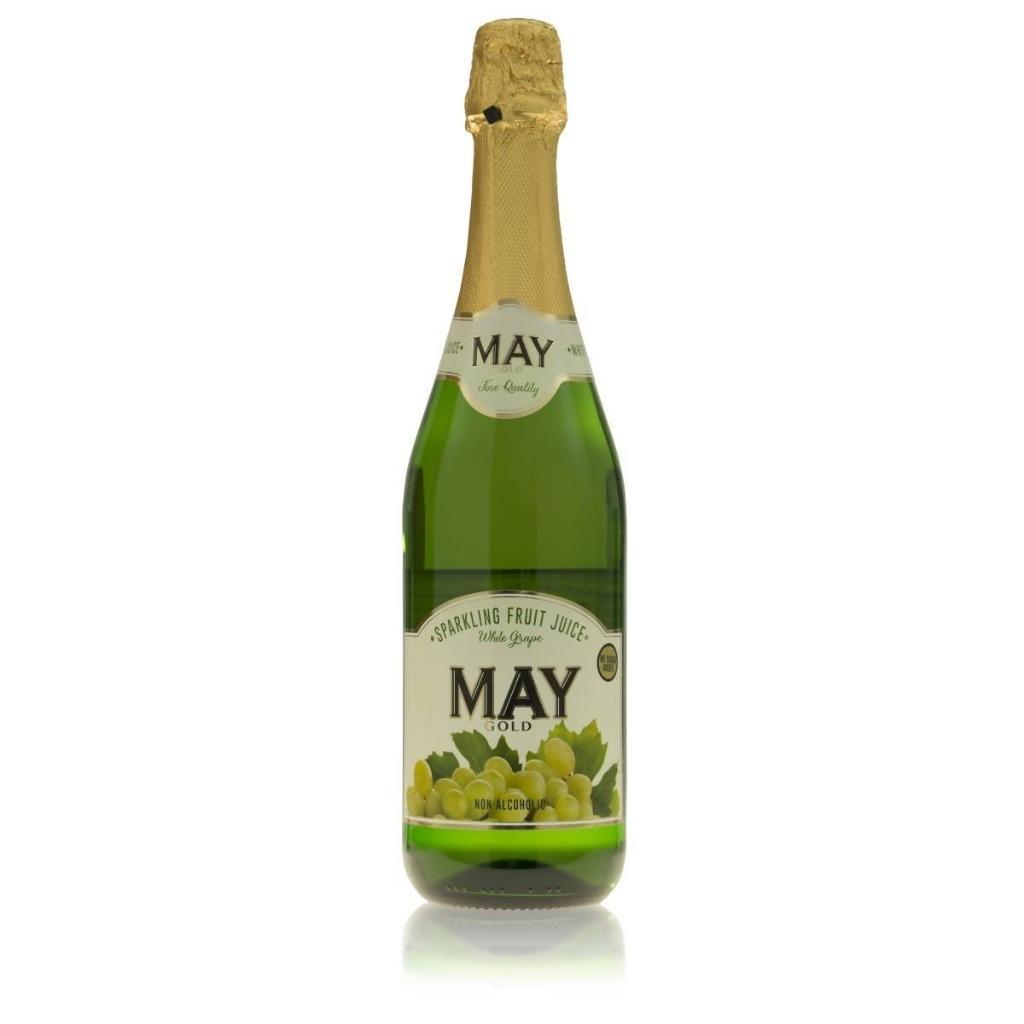 May Sparkling White Grape Fruit Juice 750ml